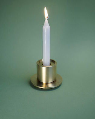 Brass Totem: Candle Holder