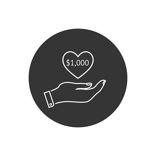 Donation- $1,000.00