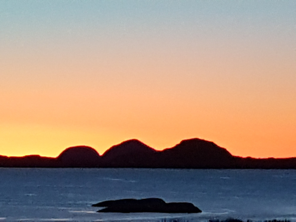 Fantastic sunset in western part of norway
