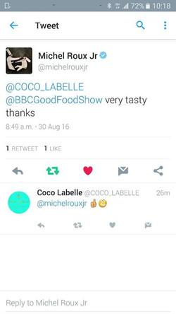 Say whaaaaaat ___😆😆😆😆😆😆 I had the huge surprise of feeding Chef Michel Roux Jnr at the BBC Goo