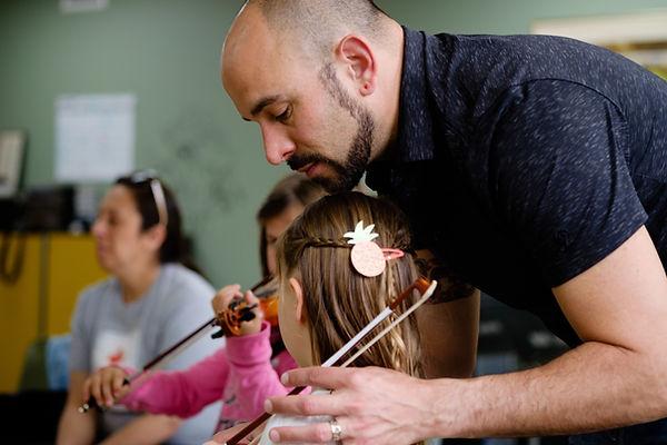 Chloe Groth Streetcar Suzuki Violin Lesson