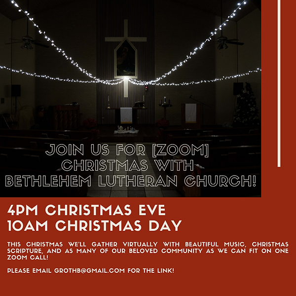 [Zoom] Christmas with Bethlehem Lutheran