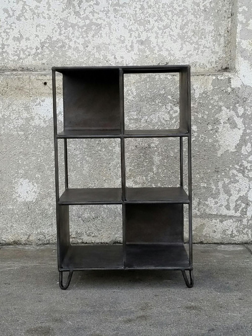 today bookshelf home rustic product and free metal overstock black caitlin garden shipping oak