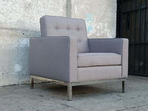 Grey Tweed Arm Chair