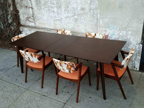 Expresso Sleek Dining Table W/Leaf