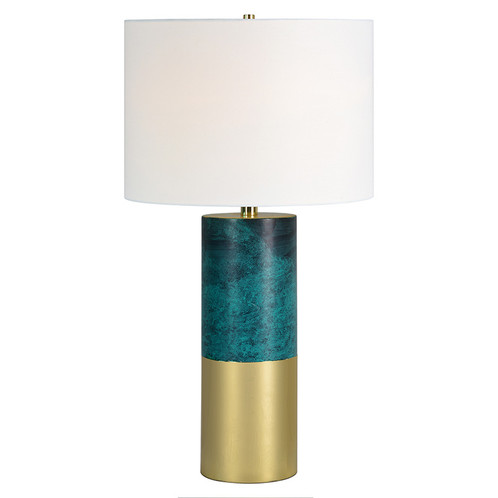 Mid Century Style Green Gold Table Lamp