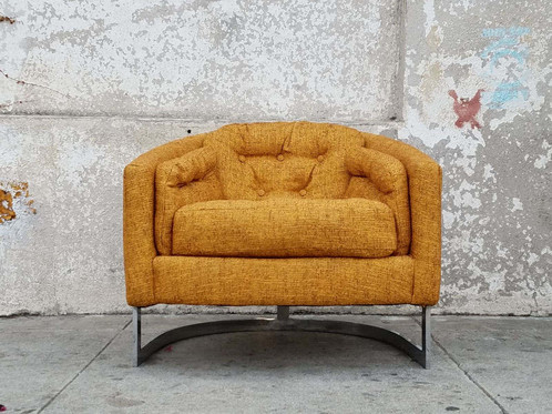 Vintage Mid Century Mustard Club Chair