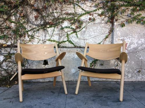 Mid Century Danish Style Bent Wood Lounge Chair