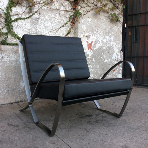 Deco chrome modern bauhaus lounge chairs sunbeam vintage - Deco lounge eetkamer modern ...