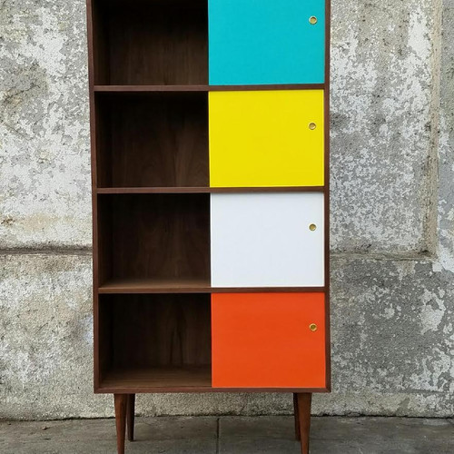 for id red l plastic orange bookshelf pieces shelves american case f umbo at modular furniture storage sale cls