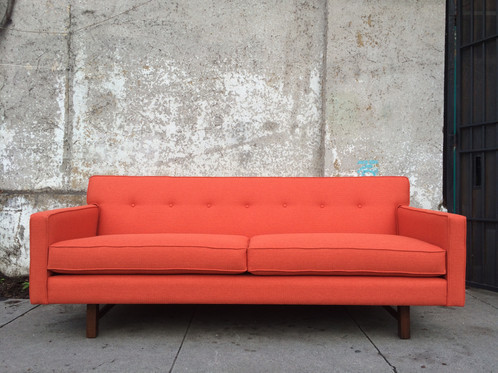 Best Klein Sofa In Tangerine Orange Tweed With