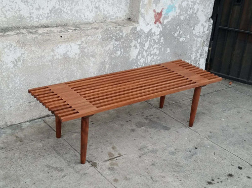 Solid Wood Slat Bench Coffee Table. SKU: HAN933. $ 375.00. 55 L X 18 W X 16  H $375