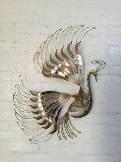 Mid Century Style Peacock Wall Art