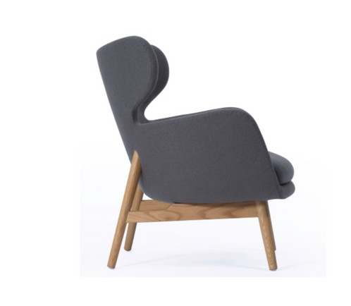 Euro Lounge Chair In Grey