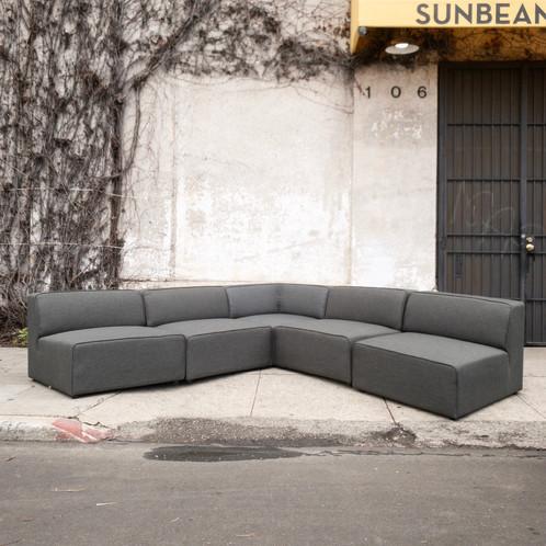 Modern Corner 5-Piece Sectional Sofa