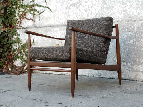vintage restored mid century lounge chair