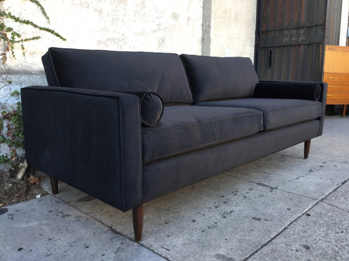 Chloe Sofa In Black Velvet