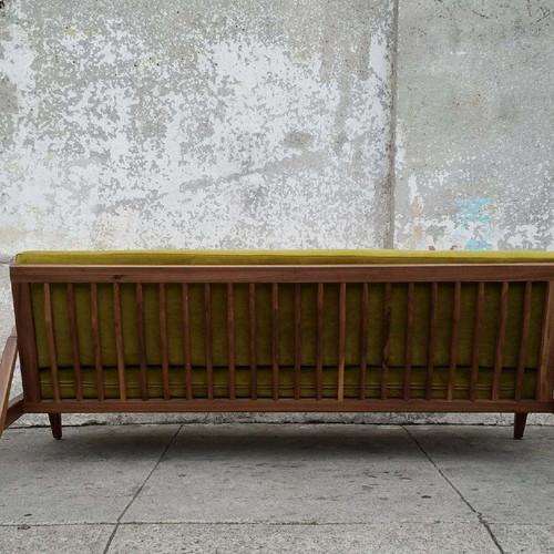 Juno Sofa In Chartreuse Velvet