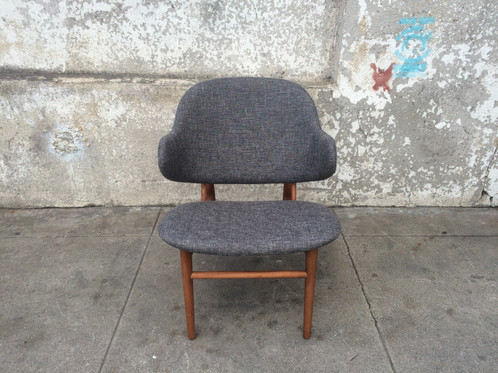 Falcon Chair In Mineral Grey Tweed