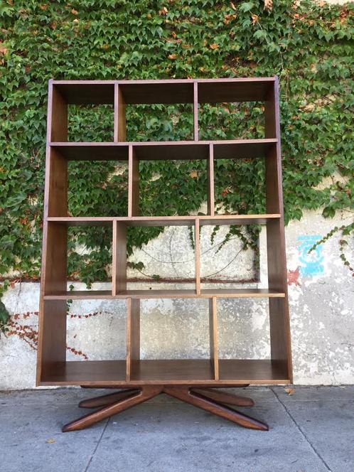 walnut eero free standing shelving unit sunbeam vintage. Black Bedroom Furniture Sets. Home Design Ideas