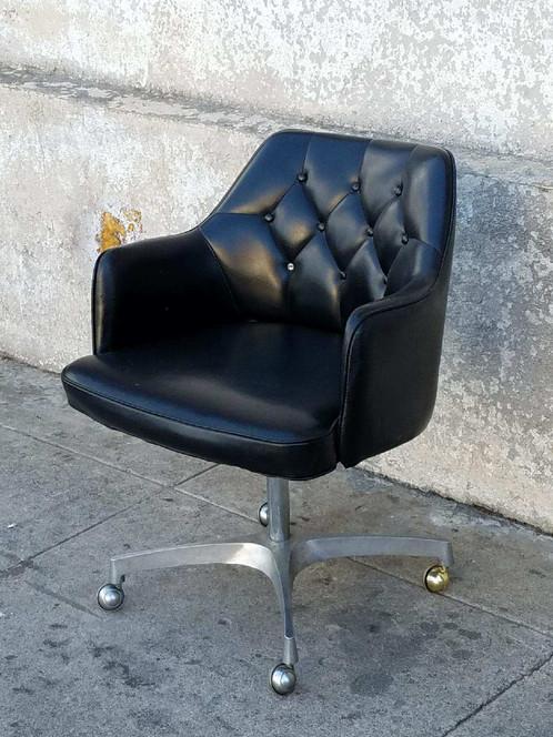office chair vintage. As Found Black Diamond Tufted Office Chair Vintage