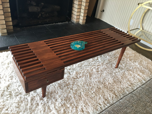 Incroyable One Drawer Slat Coffee Table 59u201d Wide X 17u201d Deep X 16u201d Height Please Allow  2 Weeks After Purchase Date