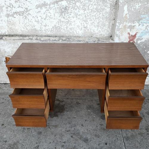 Mid Century Vintage Walnut 1960u0027s Formica Top Desk