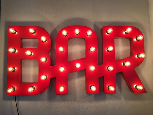 Light Up Marquee Bar Sign