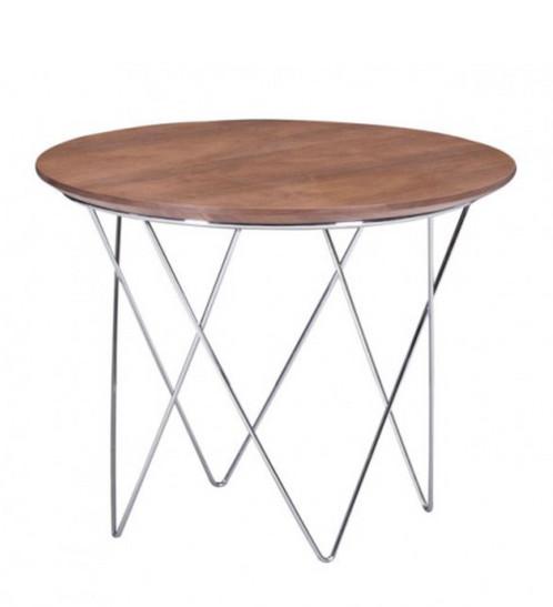 Mid Century Elegant Walnut Side Table