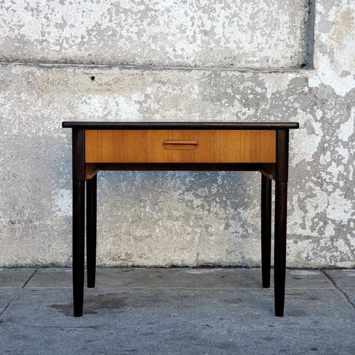 Vintage Danish Red Side Table