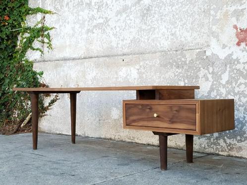 Walnut Single Drawer Coffee Table