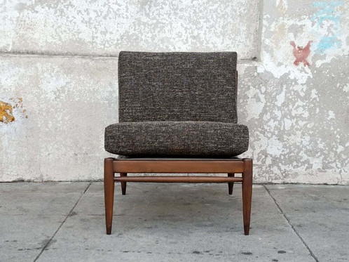 Mid Century Vintage Restored Slipper Lounge Chair