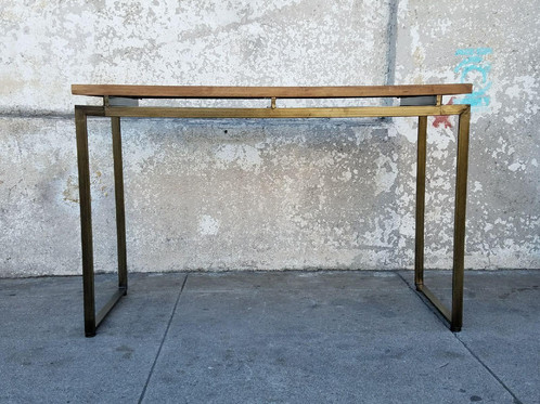 Chevron Repurposed Wood Entry Table /Desk