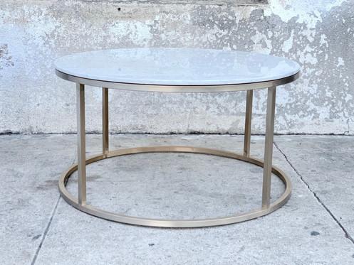 Gloria White Marble Gold Coffee Table