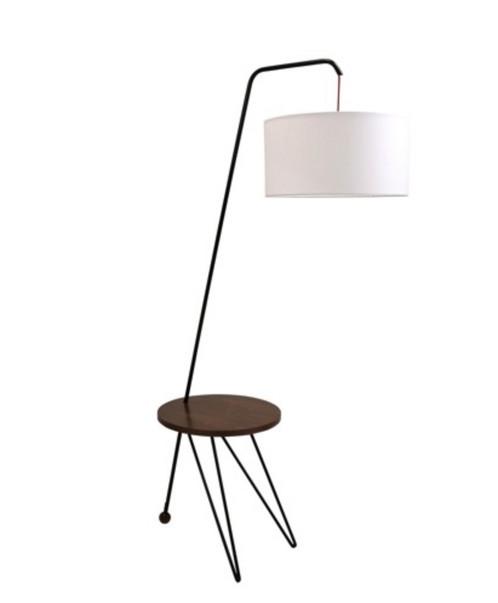 Mid Century Modern Floor Lamp W/Table