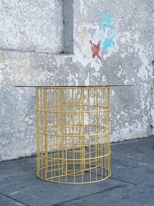 Vintage yellow wire coffee table side table sunbeam vintage vintage yellow wire coffee table side table keyboard keysfo Choice Image