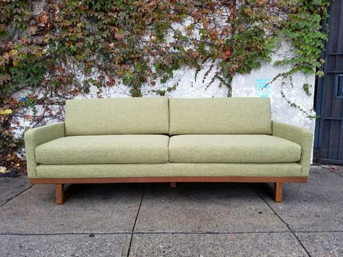 Mid Century Lime Sofa 82wx 32d X 29 375h