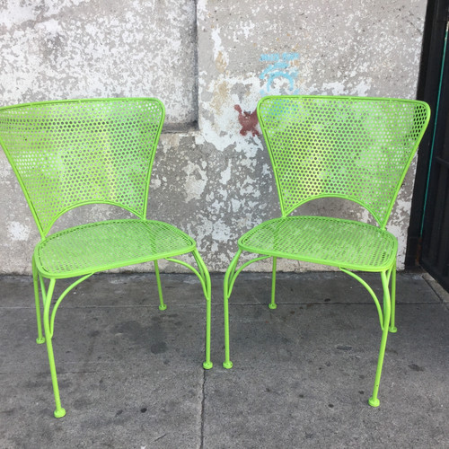 Lime Green Patio Chairs Powder Coated