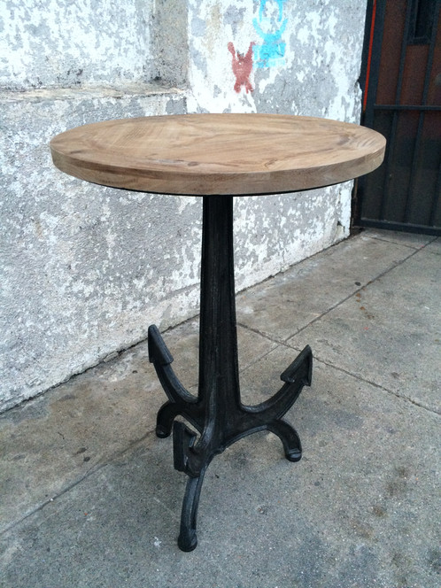 Amazing Repurposed Wood Top Anchor Side Table