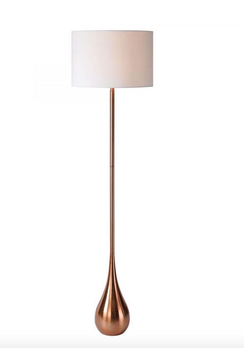 copper tear drop floor lamp sunbeam vintage With torn floor lamp copper