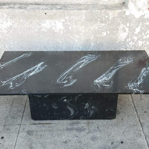 vintage black swirl faux marble coffee table