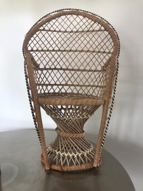 Vintage Miniature Peacock Chair