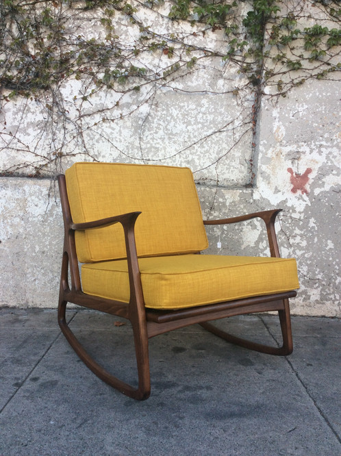 mid century rocking chair Mid Century