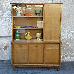 Vintage Koehler Hutch China Cabinet Storage ...