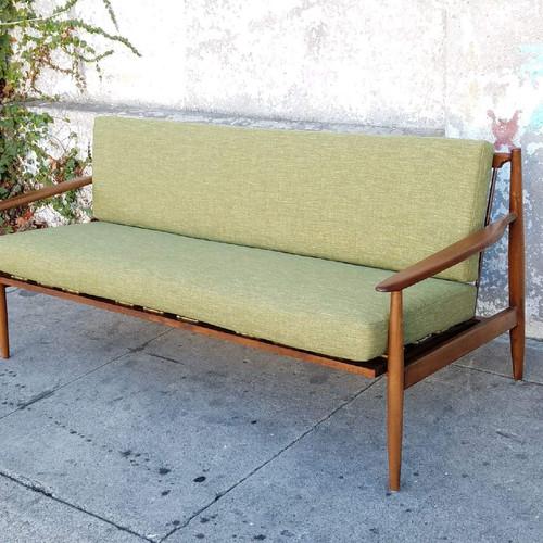 vintage grass green copenhagen sofa - Vintage Sofa