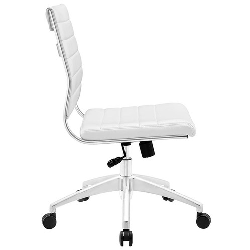 Armless White Office Chair 19 5 L X 24 W 35 38 H Backrest Dimensions