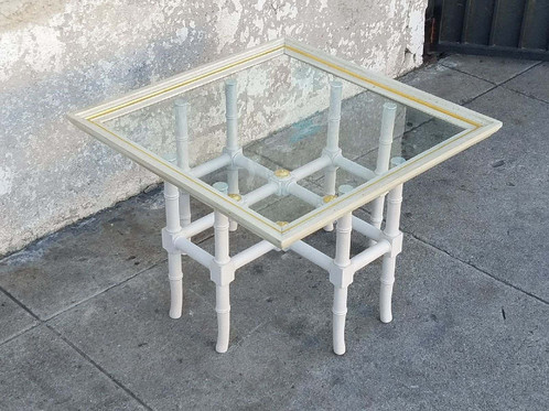 Elegant Hollywood Regency Side Tables