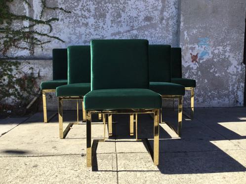 Garson Green Velvet Dining Chair