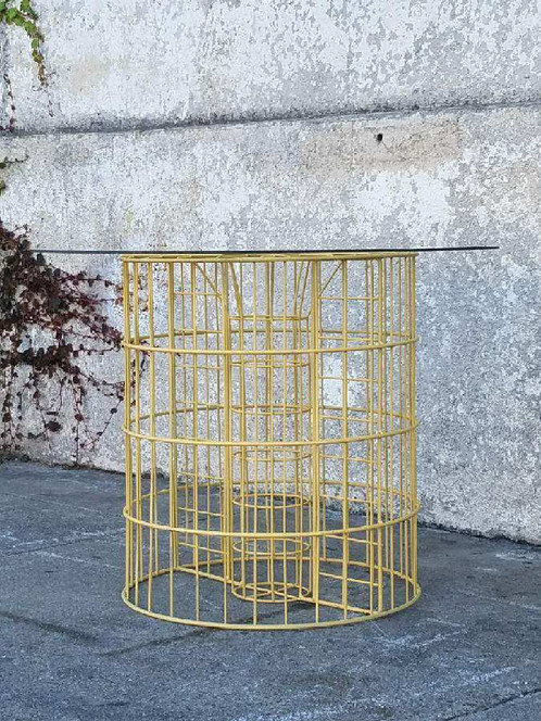 Vintage yellow wire coffee table side table sunbeam vintage vintage yellow wire coffee table side table keyboard keysfo