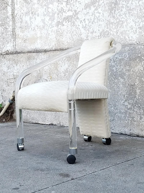 lucite office chair. vintage lucite office chair i